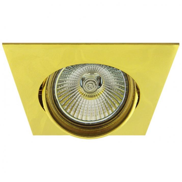 Βάση Σποτ Κινούμενη Αλουμινίου Χρυσό MR16 / GU10 Φ75mm