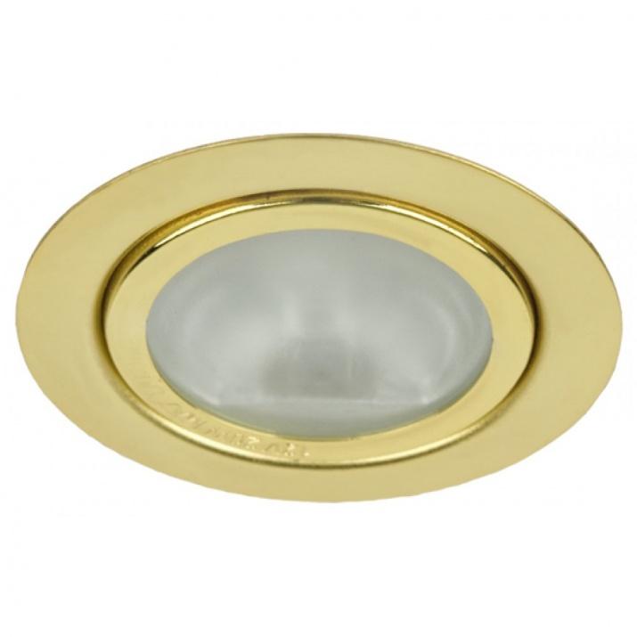 Βάση Σποτ Επίπλου Αλουμινίου Φ65ΜΜ Χρυσό με Λάμπα