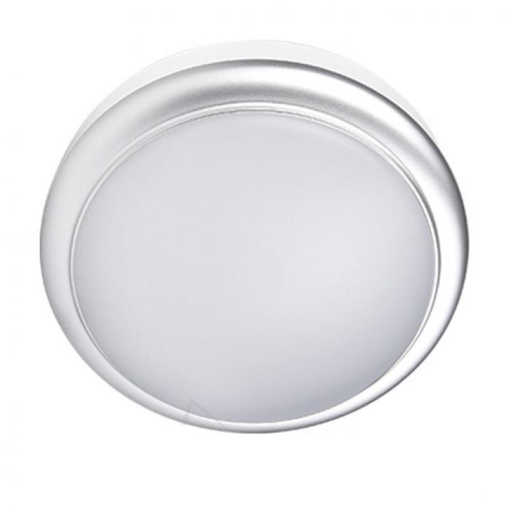 LED Φωτιστικό 8W 4000Κ IP54 Ø140mm Νίκελ