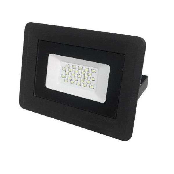 Προβολέας Μαύρος SMD 20 Watt 230 Volt Ψυχρό Λευκό