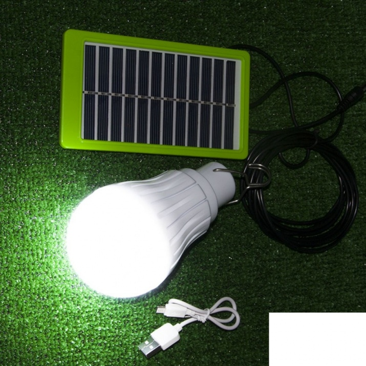 LED Ηλιακή Λάμπα 3W με USB