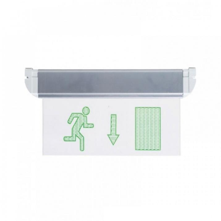 LED Φωτιστικό Ασφαλείας με Βέλος Κάτω