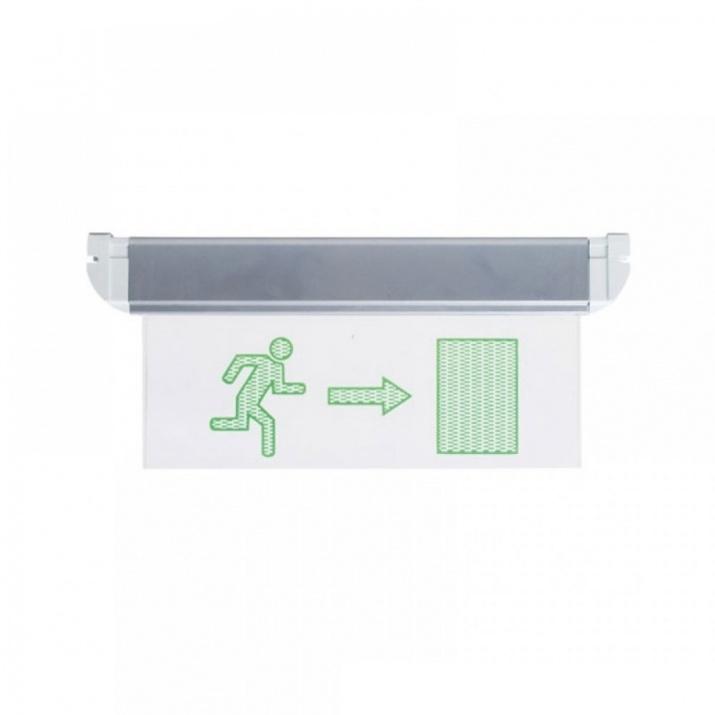 LED Φωτιστικό Ασφαλείας με Πλαϊνό Βελάκι