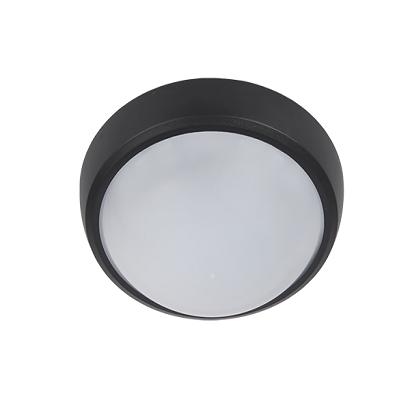 LED Φωτιστικό 6W 4000Κ IP54 Μαύρο Στρογγυλό