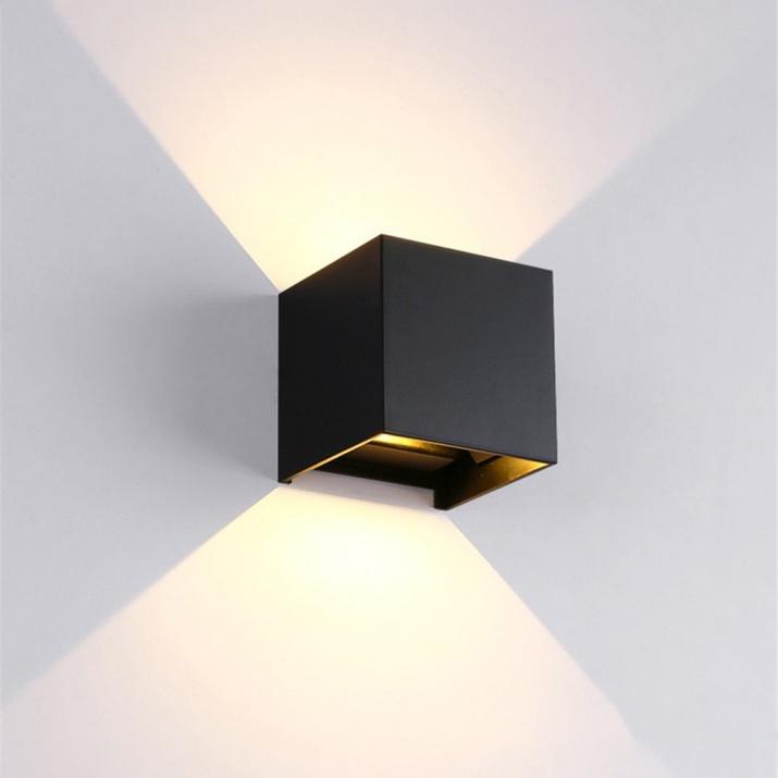 LED Φωτιστικό Τετράγωνο 10W 4000Κ IP54 Μαύρο
