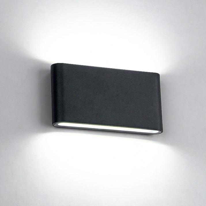 LED Φωτιστικό 12W 4000Κ IP65 Μαύρο Ορθογώνιο