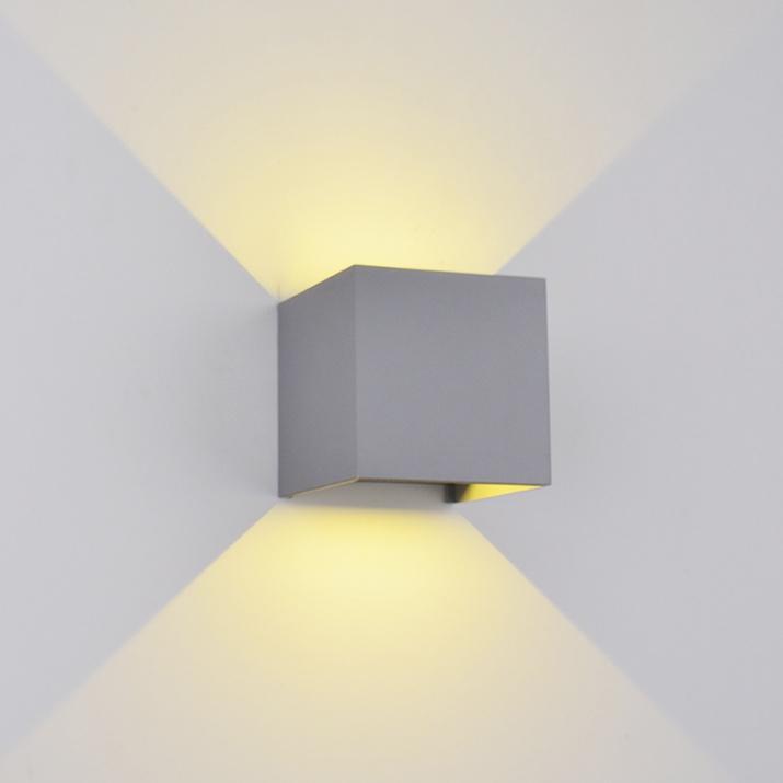 LED Φωτιστικό Τετράγωνο 10W 4000Κ IP54 Γκρι