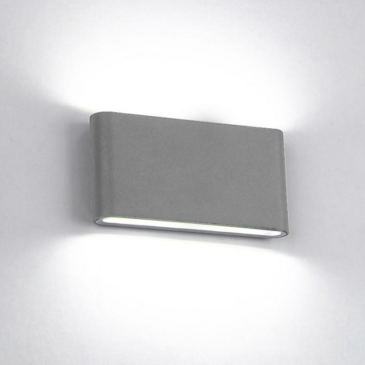 LED Φωτιστικό 12W 4000Κ IP65 Γκρι Ορθογώνιο