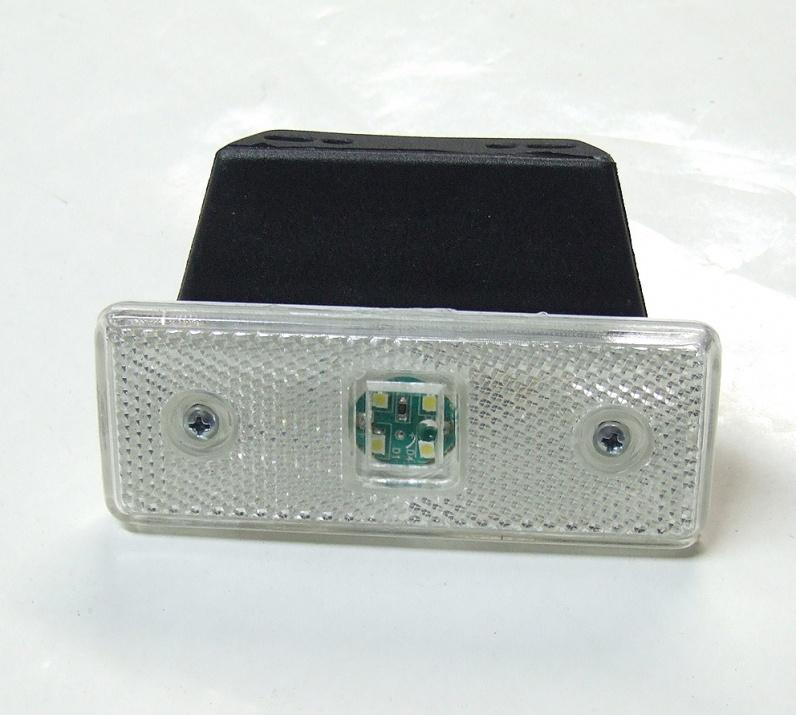 LED Φωτιστικό Πλευρικής Σήμανσης με Βάση 24V Λευκό