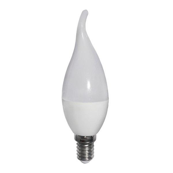 Κεράκι LED E14 6 Watt 230V Ψυχρό Λευκό Φλόγα