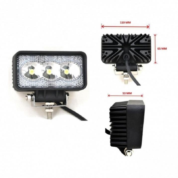 Προβολέας EPISTAR LED 9 Watt Υψηλής Ισχύος 10-30 Volt