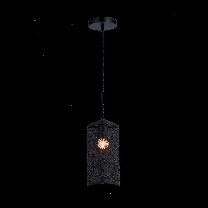 Φωτιστικό Κρεμαστό 1хЕ27 Μαύρο JANIS-1