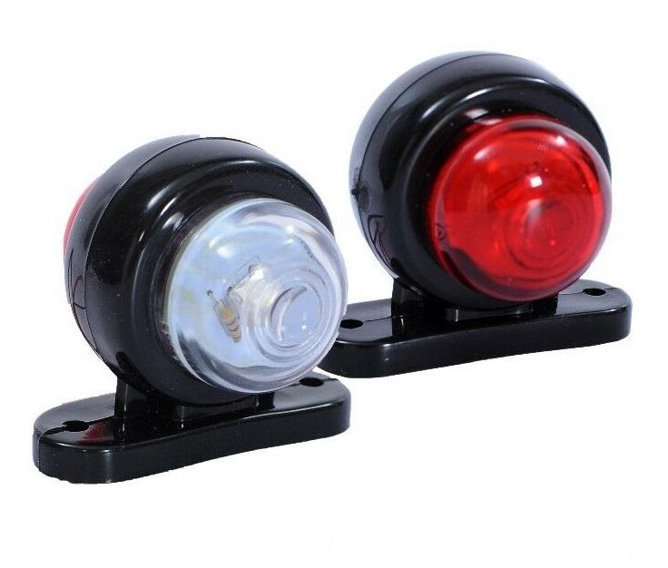 Σέτ LED Όγκου Ωμέγα Κερατάκια 12V IP66 Κόκκινό / Λευκό Στρογγυλό