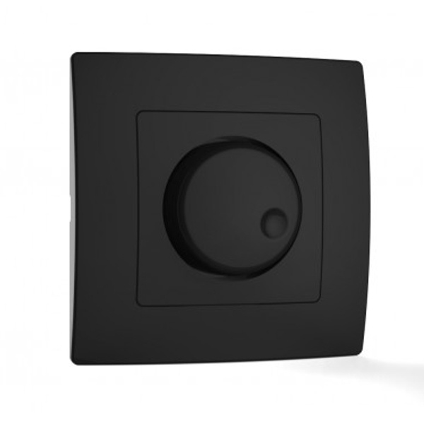 Διακόπτης Dimmer 600 Watt Μαύρος