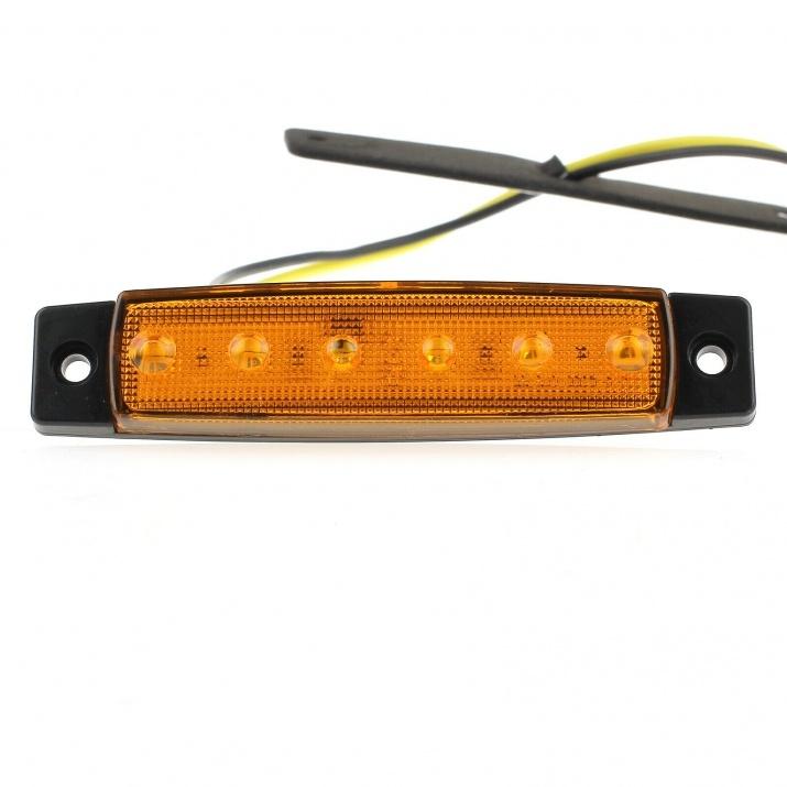 LED Όγκου 12V IP66 Πορτοκαλί