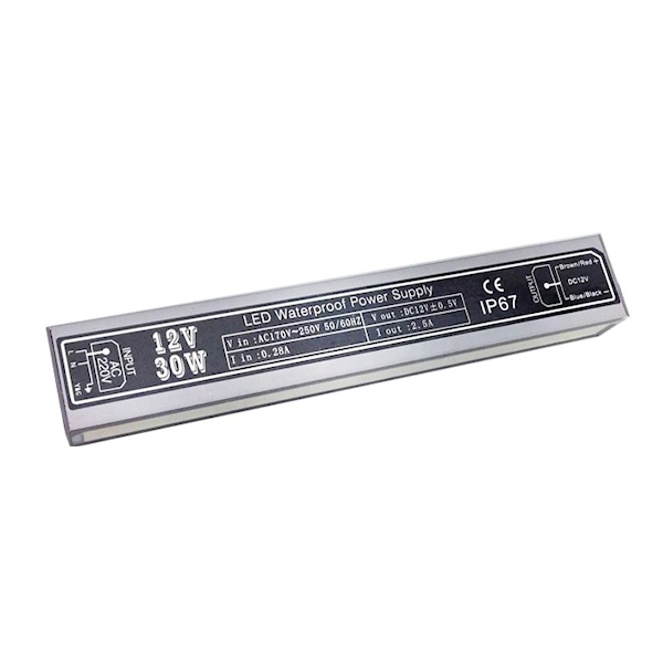 Τροφοδοτικό Αδιάβροχο IP65 12 Volt 30 Watt