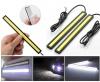 Σετ 2 λεπτά φώτα ημέρας LED 12V, με περίβλημα αλουμινίου, ψυχρό λευκό φως, μήκος 170mm
