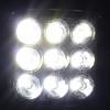 Σετ Προβολέας Mini LED 27 Watt Υψηλής Ισχύος 10-30 Volt Τετράγωνος