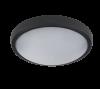 LED Φωτιστικό 12W 4000Κ IP54 Μαύρο Στρογγυλό