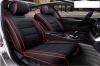Δερμάτινη Ταπετσαρία Για Μπροστινά Καθίσματα 2 Τεμάχια Μαύρο / Κόκκινο